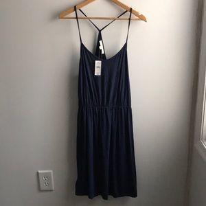 NWT LOFT navy blue racerback summer casual dress